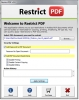 Add Restriction to PDF