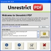 Unlock PDF Copying Restriction