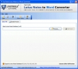 Export Lotus Notes to Word