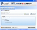 Lotus Notes Database Export to PDF